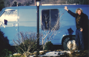 Jeff Sutton and his original blue van