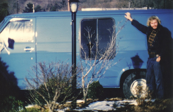 Jeff Sutton and his original blue van