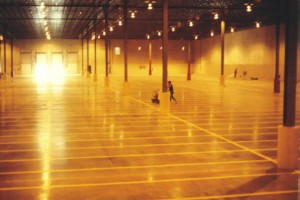 Line painting inside a warehouse by suttons contracting