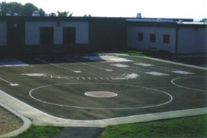 School yard line painting by Suttons Contracting