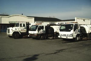 Street sweeping trucks at Suttons Contracting